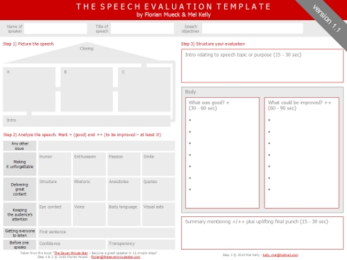 The Speech Evaluation Template | Florian Mueck